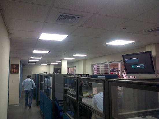 600x600 LED Panel Light project in Spain
